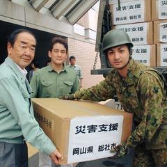 北海道地震支援 苫小牧市に支援物資