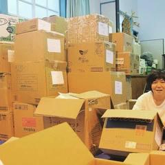 北海道地震支援 支援品、仕分け作業