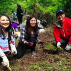 今年も若村麻由美さんと清掃活動、行いました。