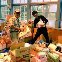 北海道地震支援 支援物資仕分け作業しています