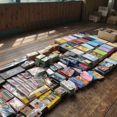 文房具もたくさん届きました