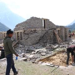 マナスル基金 サマ村 食堂ホールの再建工事、開始しました