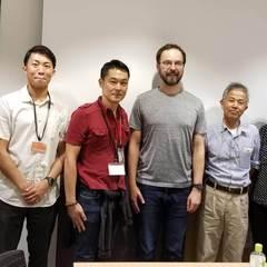 沖縄科学技術大学にて、DNA鑑定に関する打ち合わせ